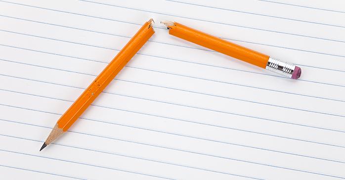 Failed CFA Exam - pencil broken
