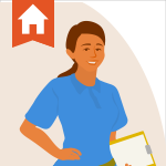 Drawing of a home inspector to represent how to find home inspectors you can recommend to your clients