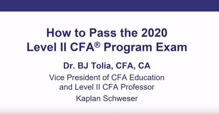 How to Pass the 2020 Level II CFA Program Exam