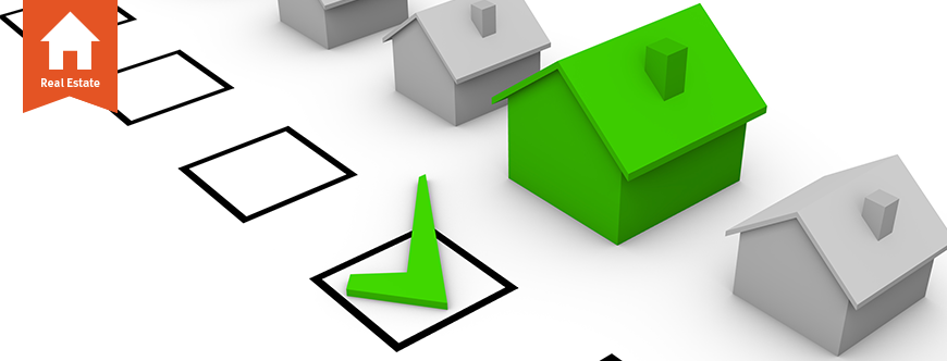 Image of a checklist with a checkmark next to a green house