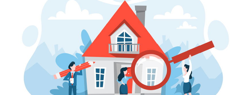 Image of real estate agents looking at a house