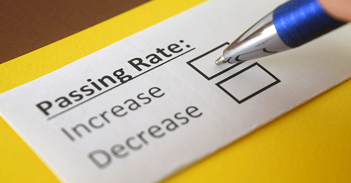 CFA exam passing rate information