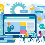 Image of an online school