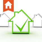 Image of a green house with a check mark