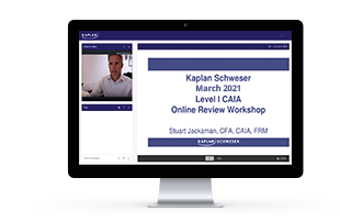 Kaplan Schweser's class materials for Level I of the CAIA exam