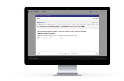 Online CAIA Mock Exam on laptop