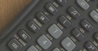 TI BAII Plus Calculator closeup - Kaplan Schweser