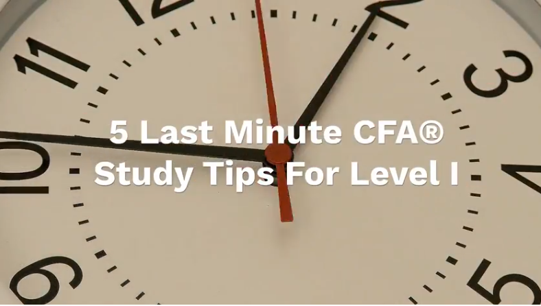 A clock signifying last minute CFA study tips