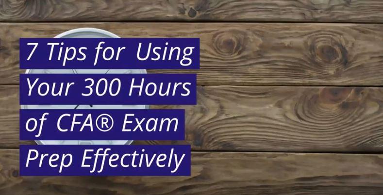 300 Hours of CFA Exam Study Tips