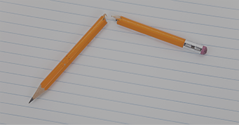 Broken Pencil - Frustration from Failing the CFA Exam - Kaplan Schweser