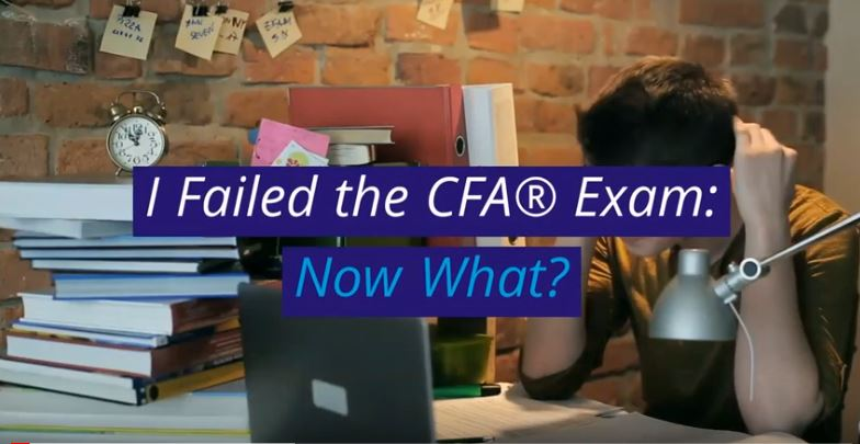 Failing the CFA Exam is not the end.