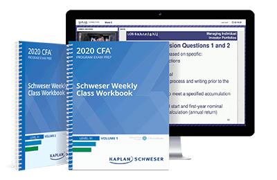 Schweser Level III Online Weekly Class Workbooks