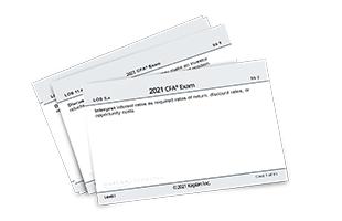 Kaplan Schweser's CFA 2021 Level I Flashcards