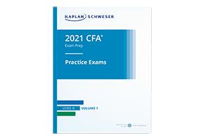 Kaplan Schweser's Practice Exams Volume 1 for Level II of the 2021 CFA Exam