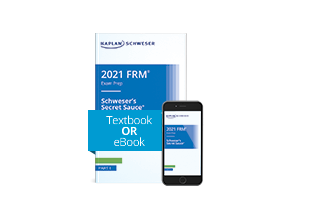 Schweser's Secret Sauce book and eBook on a phone