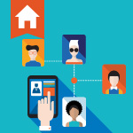 Keep in touch with past real estate clients