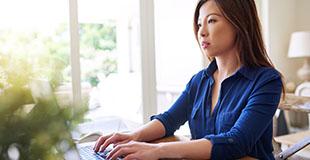 CFA candidate taking the Online Kaplan Schweser Mock Exam